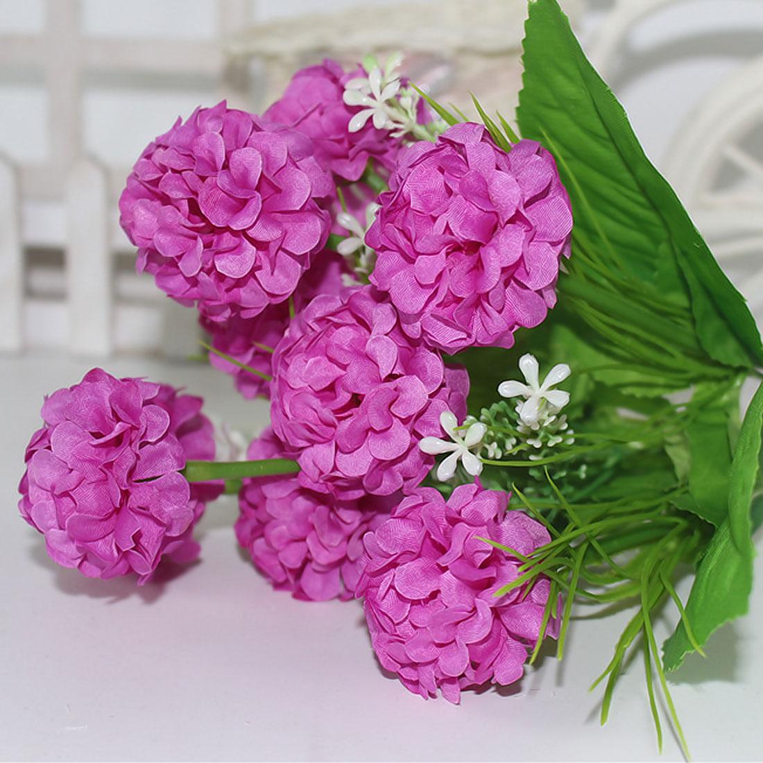 6 branch/bouquet Artificial flower silk Milan flower fake plants ...