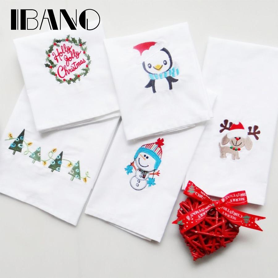 IBANO 40x60 cm bordado Navidad patrón servilleta cocina toalla plato ...