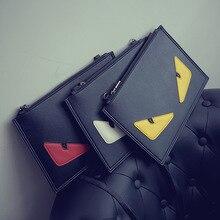 Neue Kupplung handtaschen zustrom von frauen singles umhängetasche diagonal paket umschlag teufel kleine monster personalisierte augenbeutel