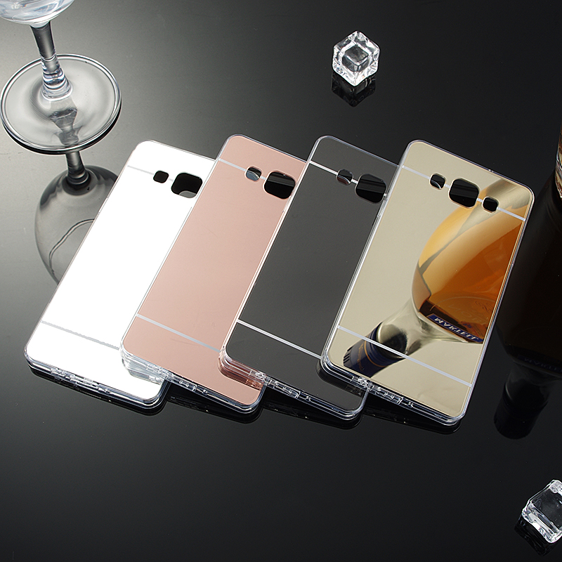 For Samsung Galaxy A5 A500 A500F Luxury Soft TPU + Plating PC Mirror Cover Case Anti-Knock Phone Bags For Samsung A5 2015 image