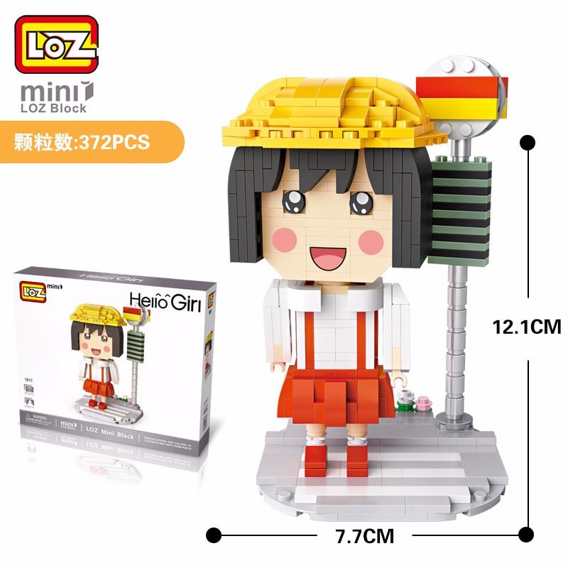 LOZ Mini Blocs Blocs de Construction Bonjour Fille Mignon Japonais Anime Figurines Grosse Tete Poupee Jouets Loisirs Educatifs