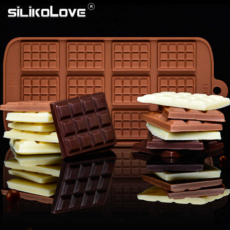 SILIKOLOVE 12 Even 3d Silicone Chocolate Mold Cake Baking Tools Cookies Mold Eco-Friendly DIY Kitchen Bakeware