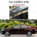 Для стайлинга автомобиля K-ia Forte  оконная оправа из нержавеющей стали  автомобильные аксессуары без центральной опора