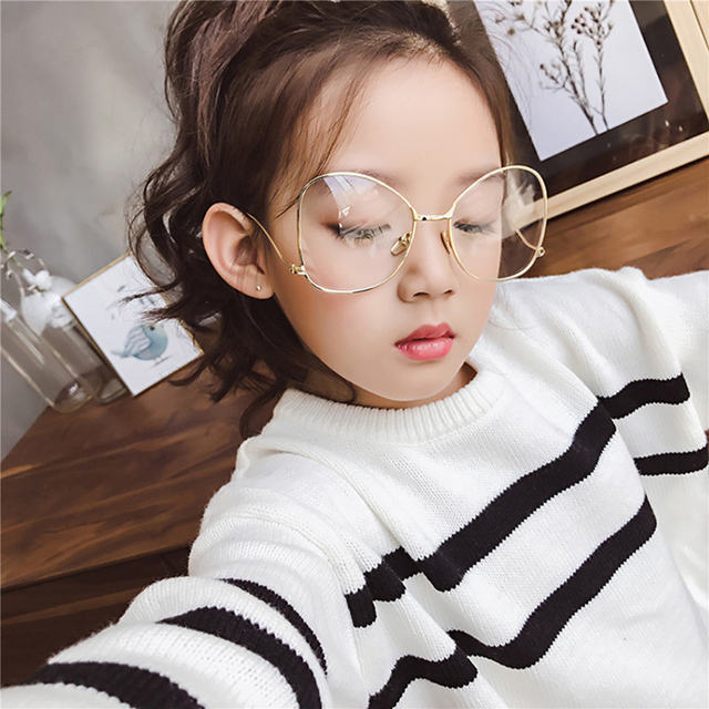 850dc69bf0 DRESSUUP 2017 Metal Frame Round Ball Kids Eyeglasses Optical High Quality  Fashion Glasses Frames Boys Girls Big Frame Eyewear