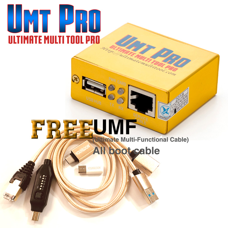Newest 100% Original UMT Pro BOX UMT umt pro +Avengers 2in1 box + UMF all boot Cables Free Shipping(China)
