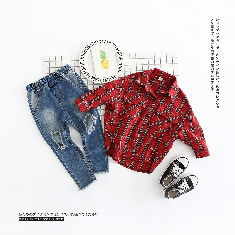 2018 New Toddlers Kids Leggings Ripped Vintage Leggins Girls Boys Skinny Jeans Childrens Jeans For Girls Straight Pants