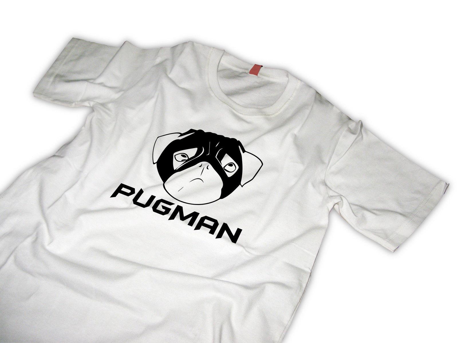 Men's Clothing Strong-Willed Pug Tshirt Pug Hero Pugman Colour Jurney Print Free Shipping T-shirt Jurney Print Cool Xxxtentacion Tshirt Brand Shirts Jeans