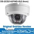 2017 DS-2CD2142FWD-IS Hik 4MP Câmera IP Poe Ao Ar Livre Câmera de CCTV Câmera de Segurança Original Versão Ultramarino IP66 ONVIF CMOS