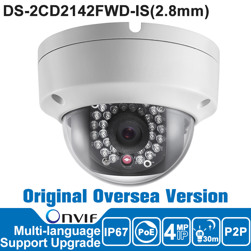 Hikvision DS-2CD2142FWD-IS IP Camera Poe Outdoor 4MP CCTV Camera Security Camera Original Oversea Version IP66 ONVIF CMOS cd диск fleetwood mac rumours 2 cd