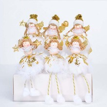 creative kawaii christmas angel with wing dolls desktop figurines merry christmas decorations for home baby girls - Christmas Angel Figurines