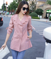 2017 New Fashion Spring Autumn Thin Women Trench Coat Long Outwear Slim Double Breasted Trench Coat for Women Coat