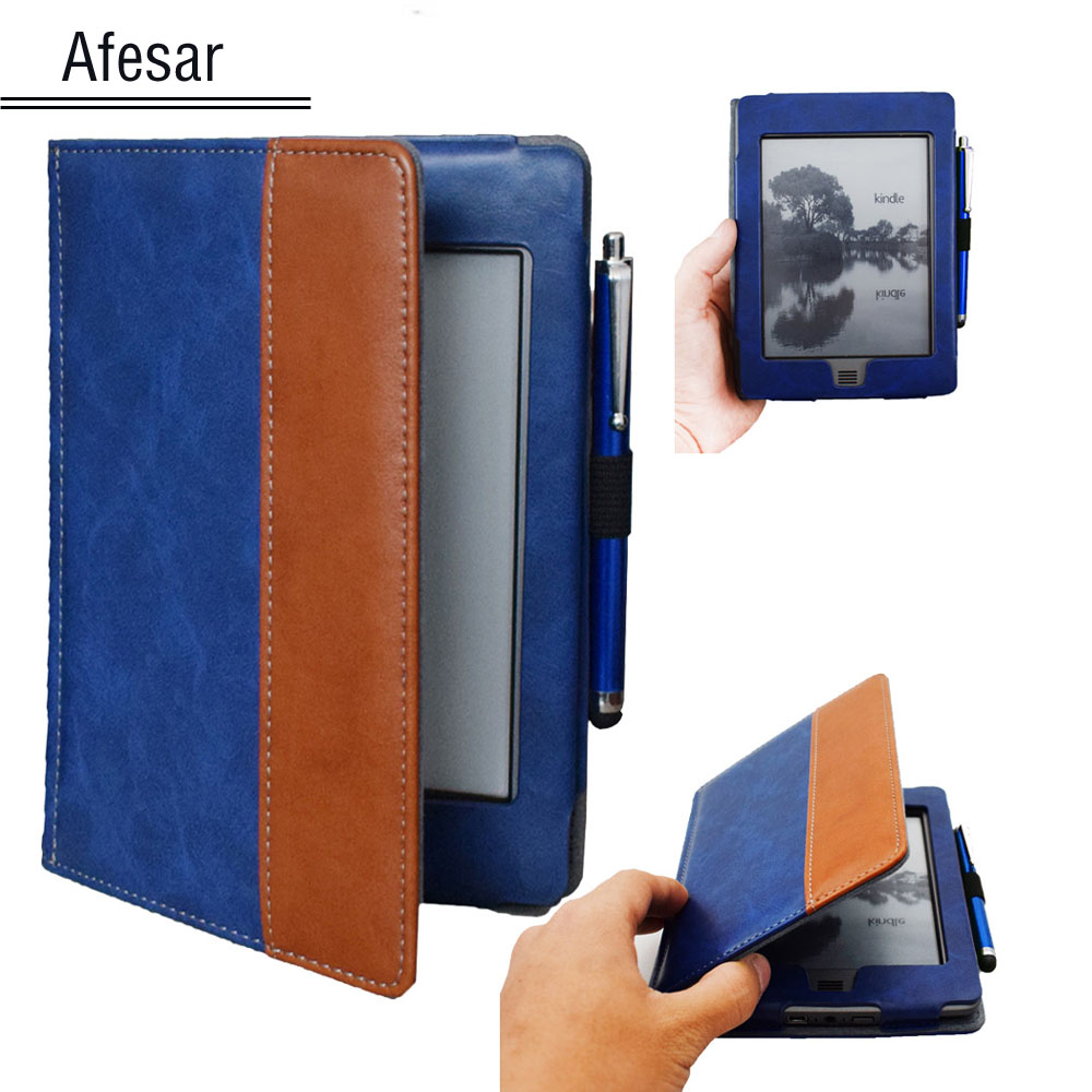 For (2012 old model) D01200 Flip book cover case - pretty case pouch for Amazon kindle 2011 model cover + pen