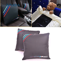 KRADA Car Pillow Lumbar Support For Office Chair Car Quilt For BMW M Emblem E46 F10