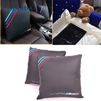 KRADA Car Pillow Lumbar Support For Office Chair Car Quilt For BMW M Emblem E46 F10