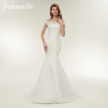 Fansmile Real Photo Vestidos De Novia Vintage Kant Mermaid Wedding Dress 2020 Plus Size Bruidsjurken Robe De Mariage FSM 165M