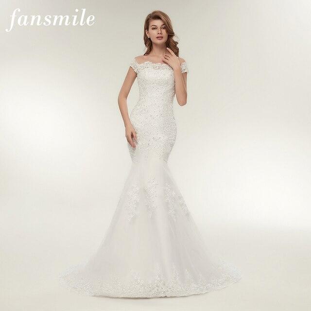 Fansmile Real Photo Vestidos de Novia Vintage Lace Mermaid Wedding ...