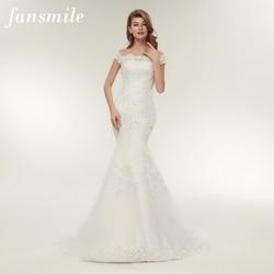 a51fddcb4611b Fansmile Real Photo Vestidos de Novia Vintage Lace Mermaid Wedding Dress  2019 Plus Size Bridal Gowns