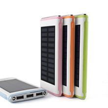 Waterproof Solar Power Bank Настоящее 5000 мАч Резервного Bateria Externa Портативное Солнечное Зарядное Устройство Powerbank для мобильного телефона