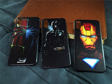 Marvel Avengers Ironman Captain America Shield Case iPhone 6s 7 8 Plus X 10 XS Max XR Silicon Rubber Cover