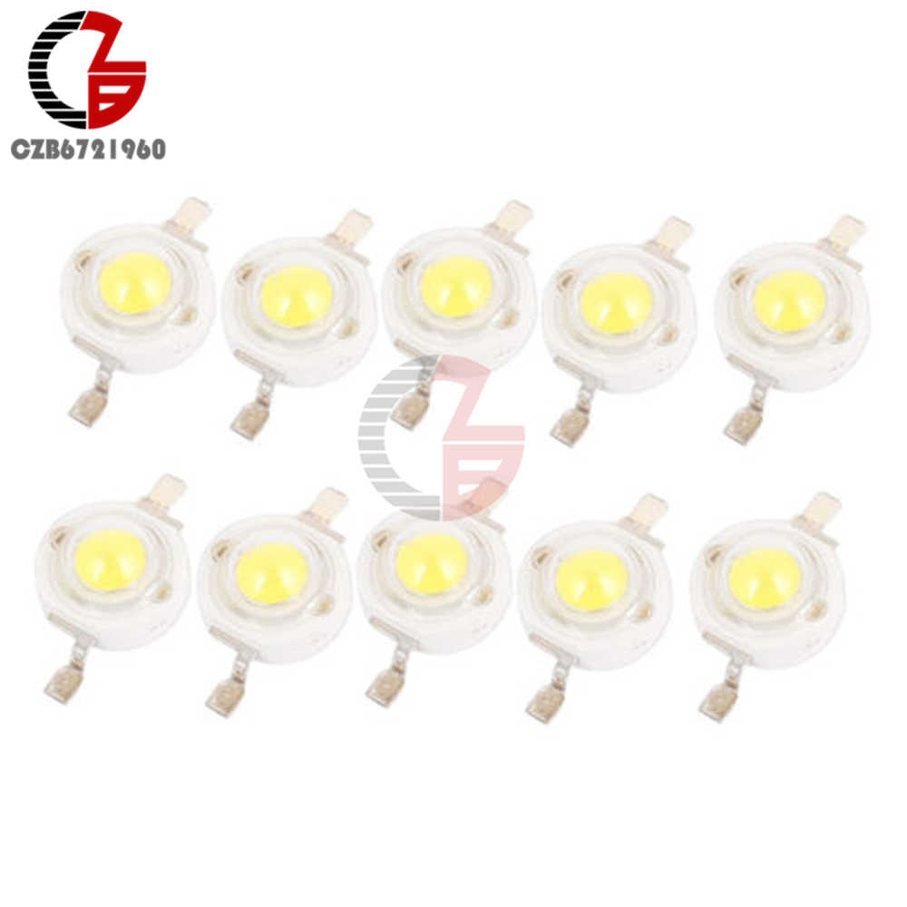 10pcs 1W Pure White SMD LED Beads NEW GOOD QUALITY