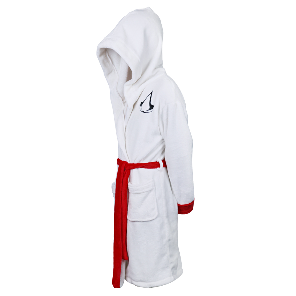 2017 Movie Assassins Creed Costume Bathrobes White Hooded Cosplay ...