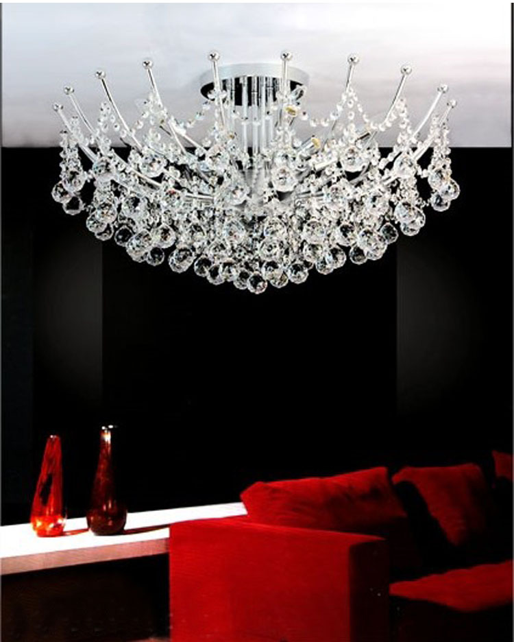 Modern Crystal Chandelier Light Fixture Chrome Chandeliers Luxury Free Shipping In From Lights Lighting On