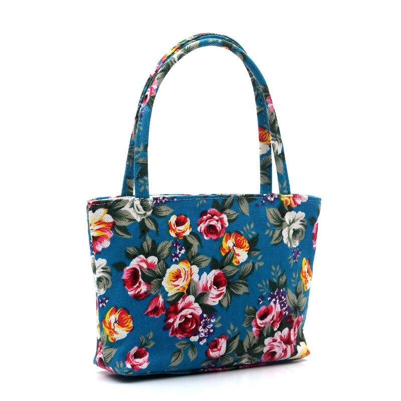 Cartoon Owl Flower Printed Shoulder Bag Women Shopping Bag Canvas  Beach Bag Ladies Messenger Handbag