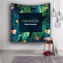Nodic Green Plant Printed Tapestry Wall Hanging Carpet Mandala Yoga Mat for Livingroom Bedroom Background Home Decor