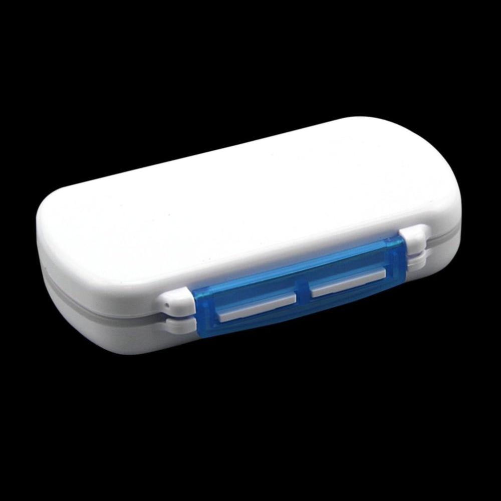 Многофункциональный компактный Размеры медицины pill box Портативный 6 решетки Путешествия Медицина держатель Планшеты контейнер для хранени...