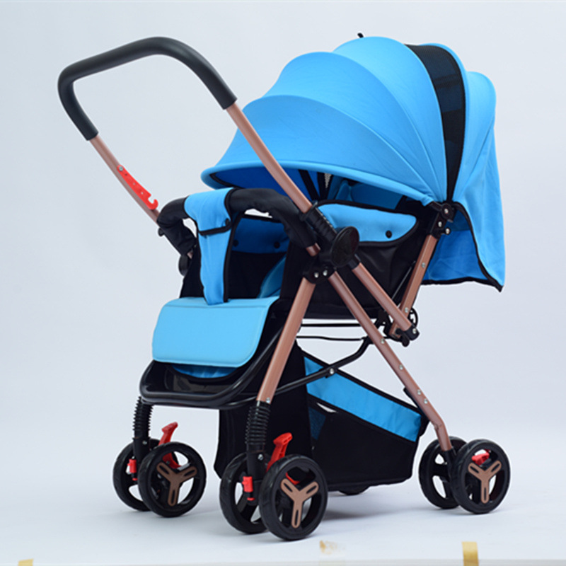 Hot Sale Luxury Folding Baby Stroller carrinho High Landscape Four-wheel Shock Baby Trolley for 0~36 Months Babies Bebek Arabasi