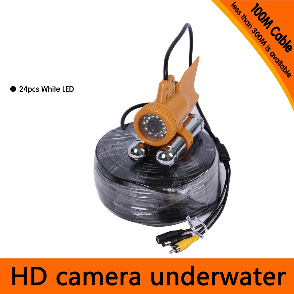 Free Shipping 100Meters Depth Underwater Camera with Dual Lead Rodes for Fish Finder Diving Camera Application