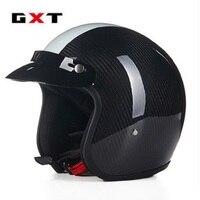 2017 miễn phí vận chuyển gxt-g361 motorcross xe máy mũ bảo hiểm cổ điển nửa khuôn mặt sợi carbon mở mặt hoàng tử mũ bảo hiểm moto capacetes