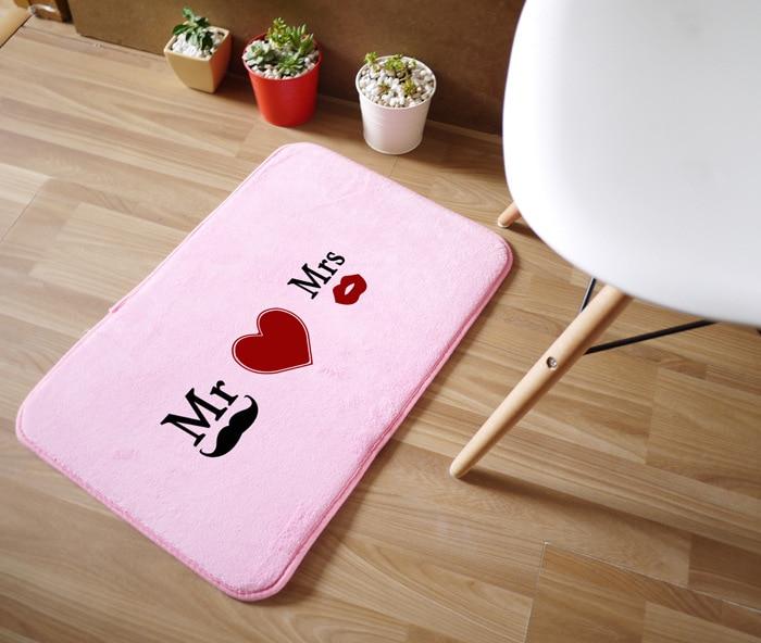 Mr&Mrs Creative Funny Doormat Carpet Size 40*60cm Living Room Carpet Kitchen Rug Bathroom non-slip Mats Outdoor fur tapete tapis