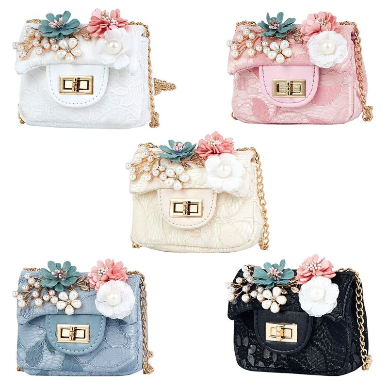 Fashion Flower Mini Handbag Shoulder Bag PU Leather Crossbody Purse Bags for Children GirlsFashion Flower Mini Handbag Shoulder Bag PU Leather Crossbody Purse Bags for Children Girls