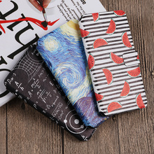 AXD Brand Painted Pattern Flip Wallet Cove Fundas For Wiko Sunny Max Sunny2 Plus 3 mini Protective Case Capa DIY
