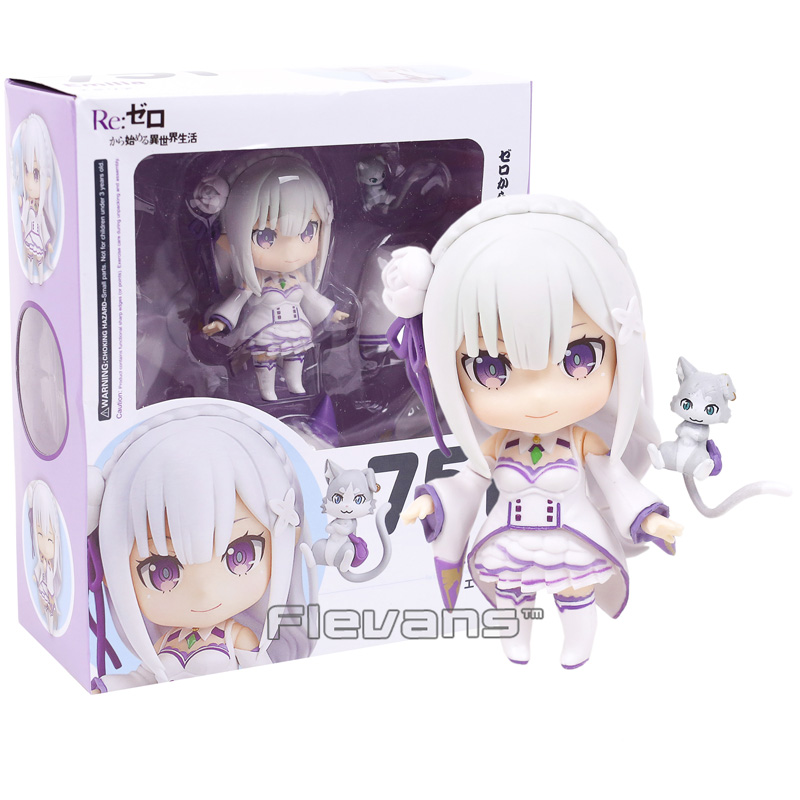 Re Life in a different world from Seikatsu Emilia 751 Nendoroid Doll PVC Action Figure Collectible Model Toy re life in a different world from zero model decoration 20cm rem and lahm swimsuit action figures
