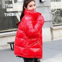 Winter warm down jacket women cotton padded jacket coats wadded jackets female casual bright soild loose parkas outwear coats