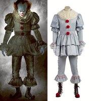 Стивен Кинг это Pennywise косплэй костюм террор клоун костюмы на Хэллоуин Джокер для взрослых для женщин мужчин индивидуальный заказ