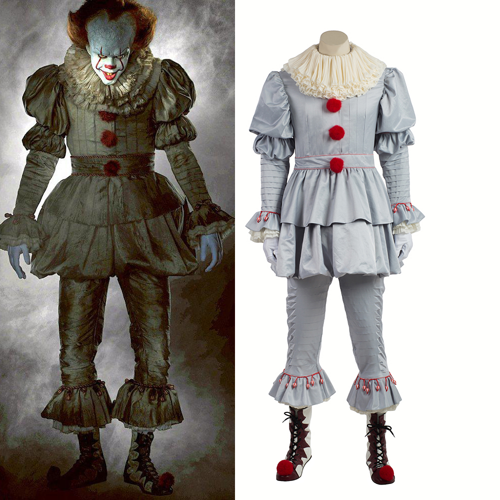 Stephen King's It Pennywise Cosplay Costume Terror Clown Halloween Costumes Joker Adult Women Men Cosplay Custom Made