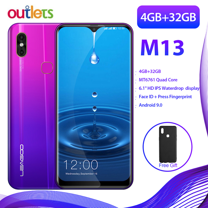 Großen Bildschirm Smartphone Leagoo M13 4 GB RAM 32 GB ROM MT6761 Android 9.0 Gesicht Entsperrt Dual Sim FDD LTE 4G Smart Handy-in Handys aus Handys & Telekommunikation bei AliExpress - 11.11_Doppel-11Tag der Singles 1