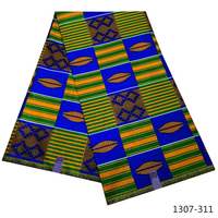 African 100% Polyester Wax Prints Fabric ankara wax print fabric Wax High Quality 6 yards Africa Fabric for Party Dress 1307 31