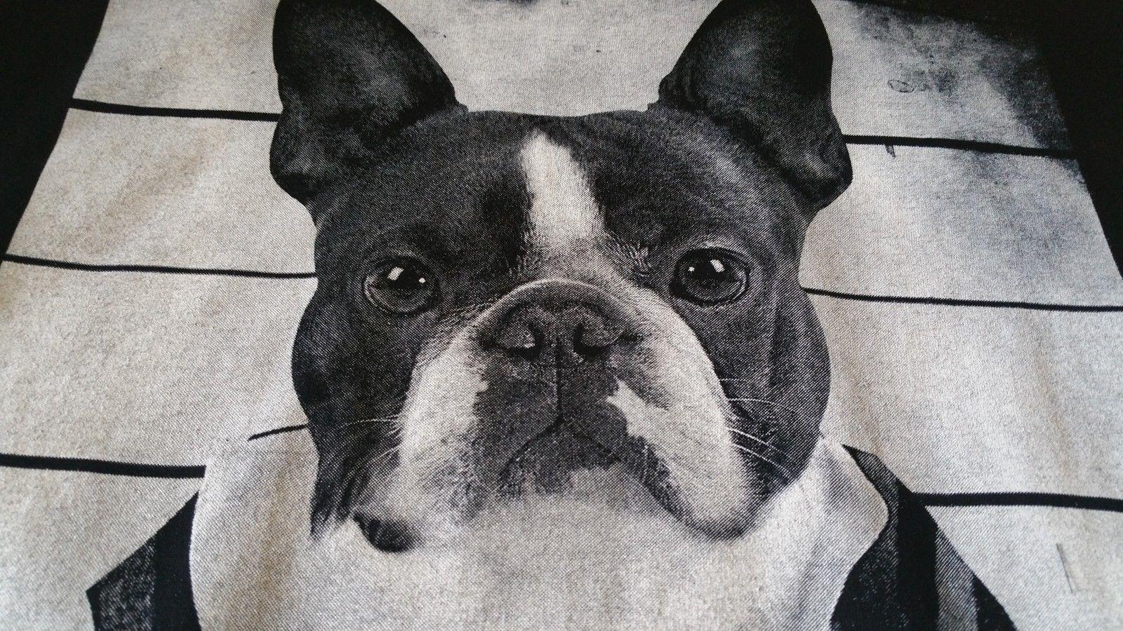Bulldogge Mugshot T-Shirt Schwarz- Hund,Dog,French Bulldog,Frenchi T-Shirt Novelty Cool Tops MenS Short Sleeve T shirt