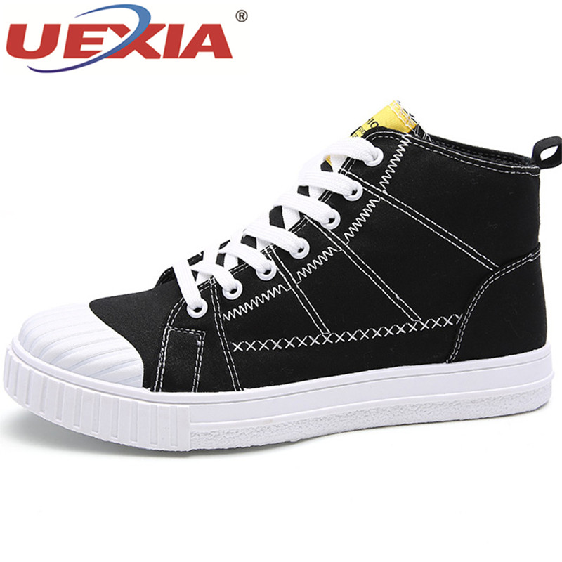 UEXIA New fashion Canvas Men Boots Canvas Ankle Boots Men outdoor Casual Men's Boots High Quality comfortable Hip hop Youth Boys