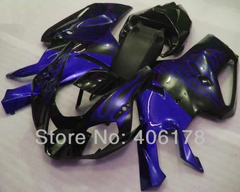 RSV1000R 03-06 motorbike fairing Bodykit Fairings For Aprilia RSV 1000R 2003-2006 Blue Flame Motorcycle Fairings