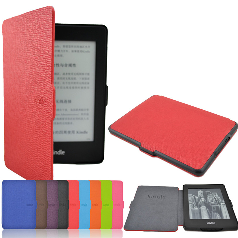 Factory price Hot Selling High Quality Ultra Slim Magnetic Case Cover For Kindle Paperwhite 1/2/3 Drop Shipping Drop Shipping
