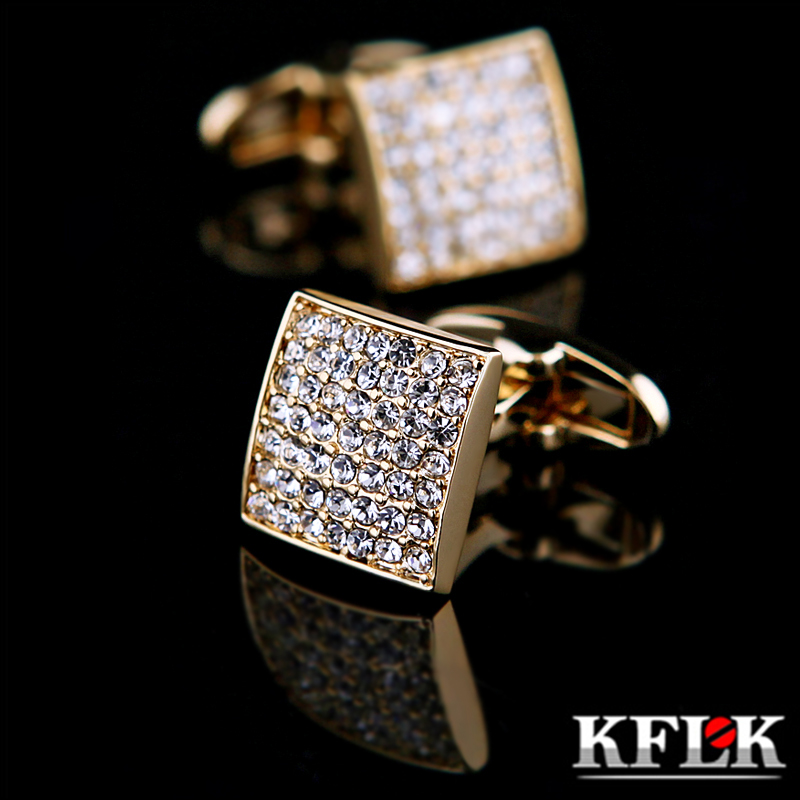 KFLK Jewelry french shirt cufflink for mens designer Brand Cuffs link Button Gold High Quality Luxury Wedding male Free ShippingKFLK Jewelry french shirt cufflink for mens designer Brand Cuffs link Button Gold High Quality Luxury Wedding male Free Shipping