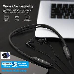Image 3 - Lewinner W1 Neckband Bluetooth Earphone with Mic IPX5 Waterproof Sports Wireless Headphone Bluetooth for phone iPhone xiaomi