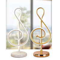 25W Modern Golden Music Note Bedroom LED Desk Lamp Artistic Home Living Room Bedside Decoration Night Light