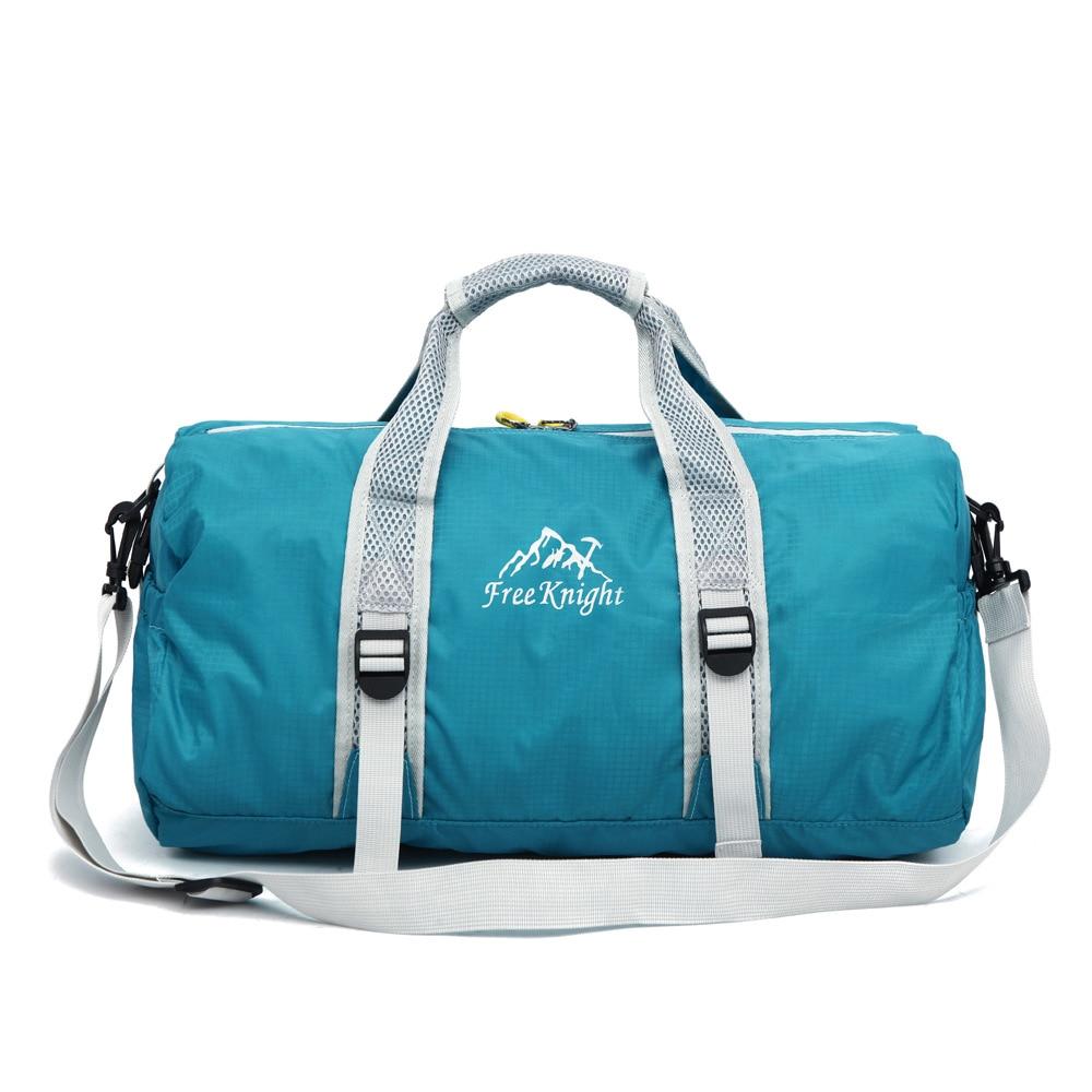 20 L Outdoor Sports Bag Foldable Shoulder Sport Bags Single Strap Waterproof Round Shape Fitness Leisure Convenient Handbag