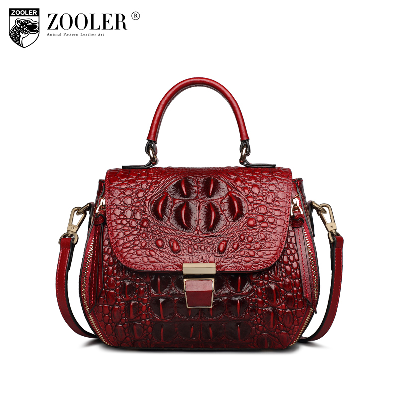 ZOOLER Genuine leather Bag Crossbody shoulder woman bags high quality Tote Bag Women top brand X102 zooler 2017 new arrival genuine leather handbags woman design top quality crossbody bag luxury brand red ladies bags hs 3211